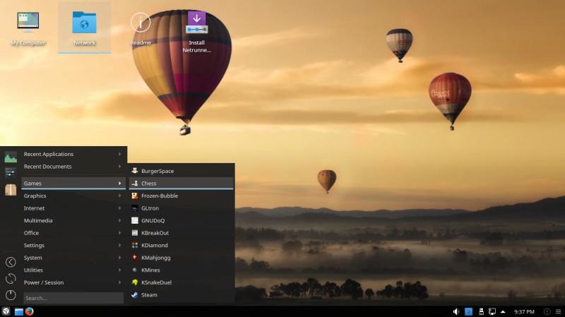 Netrunner 17.01 con Plasma KDE 4
