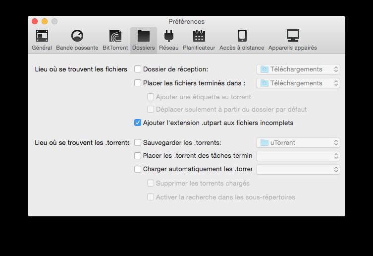 Configuración de uTorrent Yosemite en 7 pasos (Mac OS X 10.10) 6