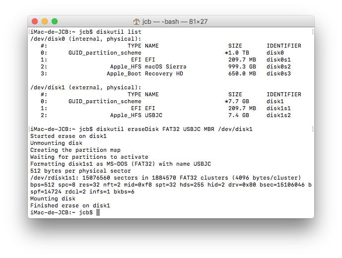 Formato en Mac con el Terminal (Sierra, El Capitan...) 3