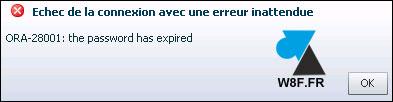 Oracle 12c : reactivar una cuenta vencida 2