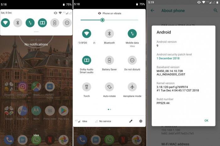 Moto G6 Plus recibe Android 9 Pie en pruebas en Brasil 2