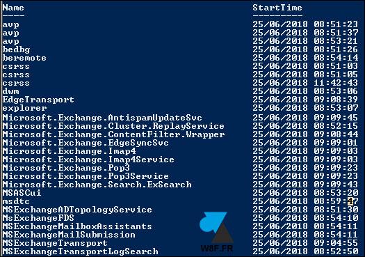 Mostrar el tiempo de actividad de un servicio de Windows 3
