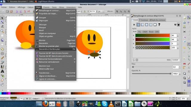 Inkscape, dibuja un carácter simple. 8