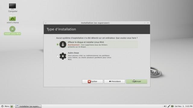Linux Mint Mate, instalación en imágenes en un disco duro vacío 4