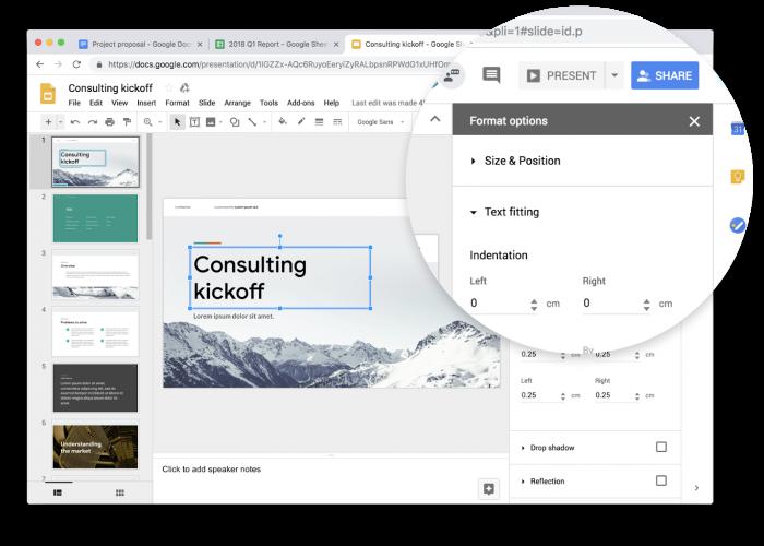 Google Docs, hojas de cálculo y presentaciones reciben nuevo Material Design 2