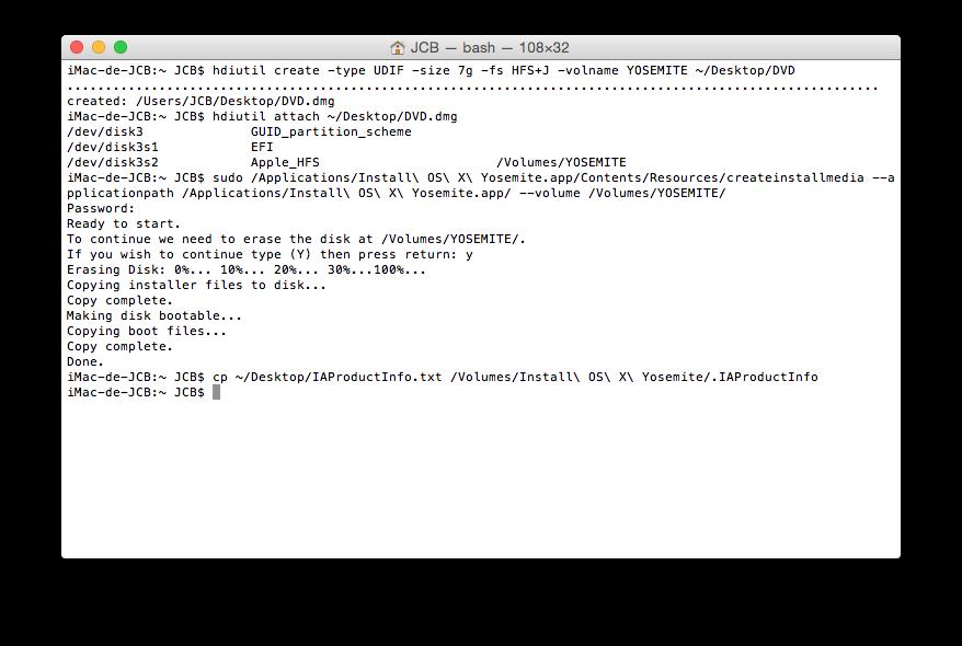 Crear un DVD de arranque de Yosemite (Mac OS X 10.10) 8
