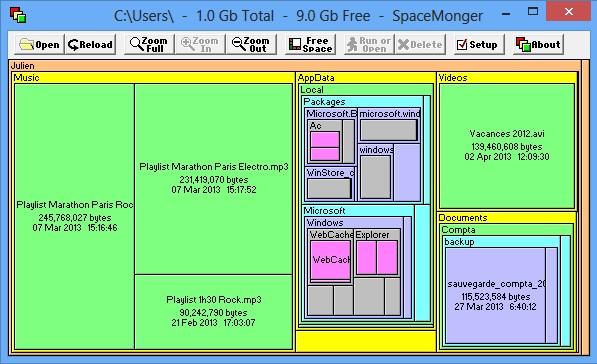 Mostrar lo que ocupa espacio en el disco duro 7