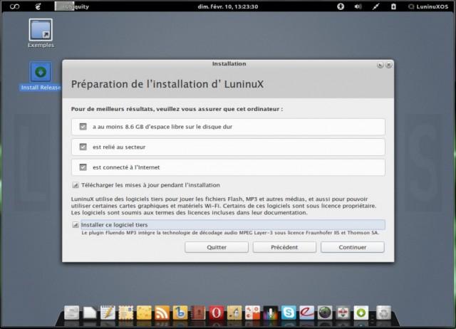 Luninux OS, instalarlo en un disco duro en blanco 3
