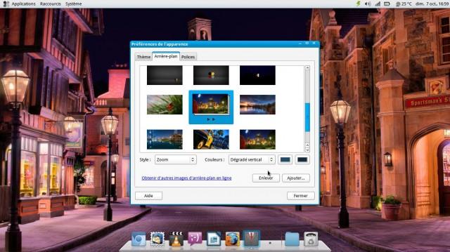 Una presentación de diapositivas como fondo de pantalla en Fuduntu 4