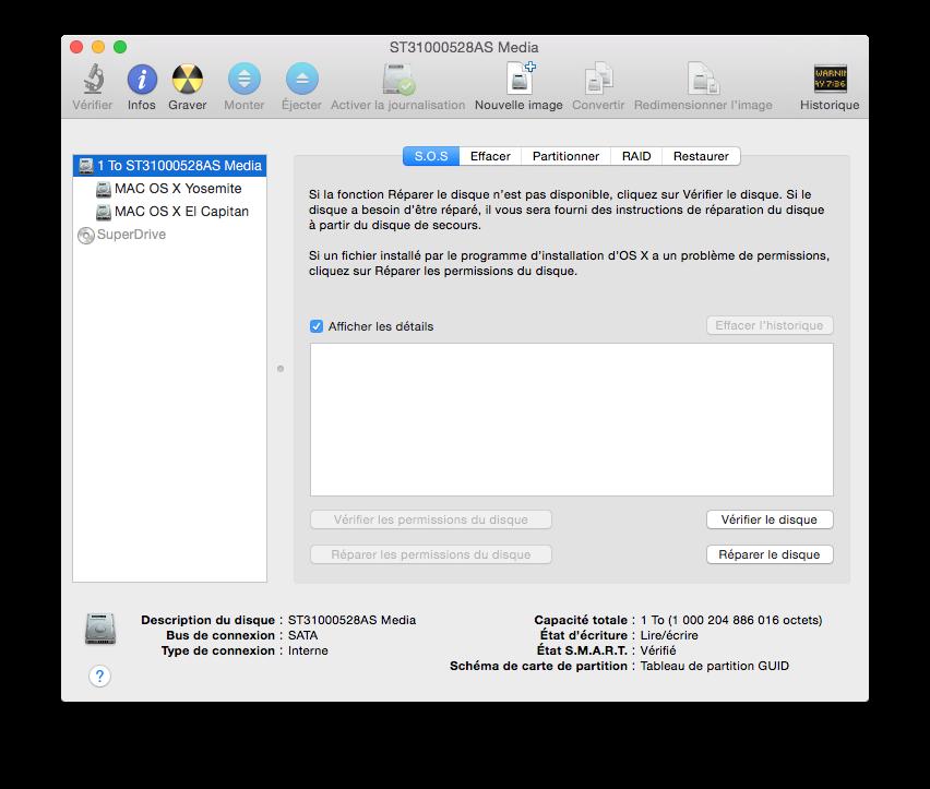 Utilidad de disco El Capitan (Mac OS X 10.11) 3
