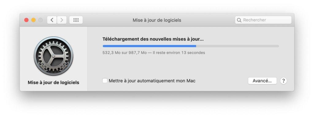 Actualización adicional de macOS 10.14.3 4