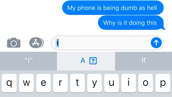 """Un error en iOS 11 impide que algunos usuarios escriban """"I"""". 1"""