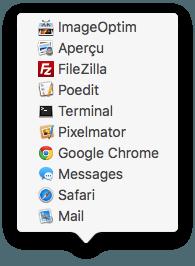 Ver artículos recientes en el Mac OS X El Capitan Dock (10.11) 4