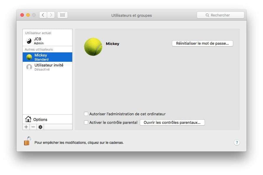 Añadir una cuenta de usuario de Mac OS X El Capitan (10.11)