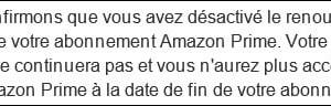Cancelar Amazon Prime