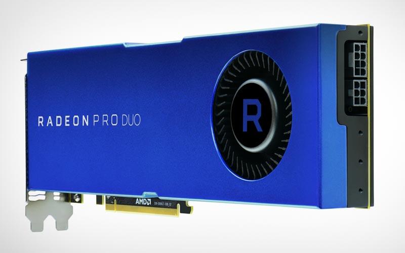 AMD presenta la Radeon Pro Duo, una tarjeta gráfica monstruosa con dos GPUs.