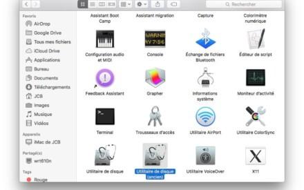 Uso de la antigua utilidad de disco de Mac para OS X El Capitan (10.11)