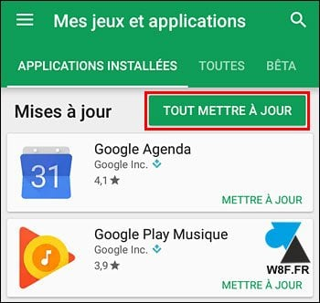 Android: desactivar la actualización automática de la aplicación