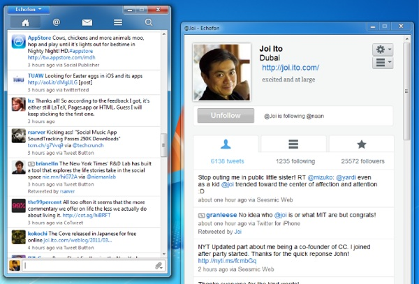 Echofon para Windows 1