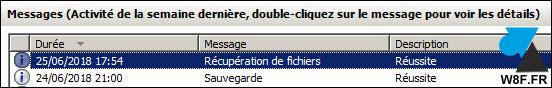 Restaurar un archivo con la herramienta Copia de seguridad de Windows Server 8