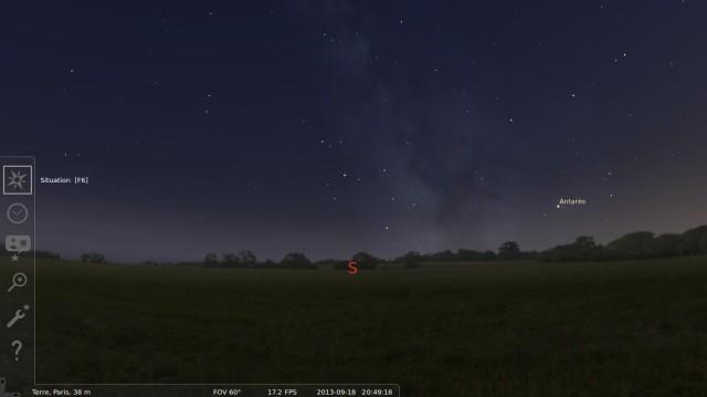Cabeza en las estrellas con Stellarium 4