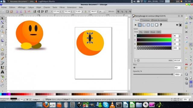 Inkscape, dibuja un carácter simple. 6