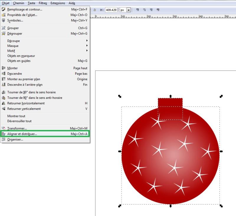 Cómo dibujar una pelota de Navidad con Inkscape 12