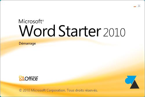 TÉLÉCHARGER MICROSOFT WORD STARTER 2010 DÉMARRER EN UN CLIC GRATUIT