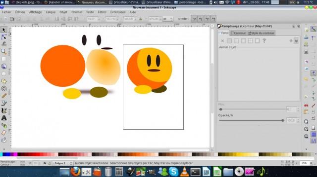 Inkscape, dibuja un carácter simple. 11