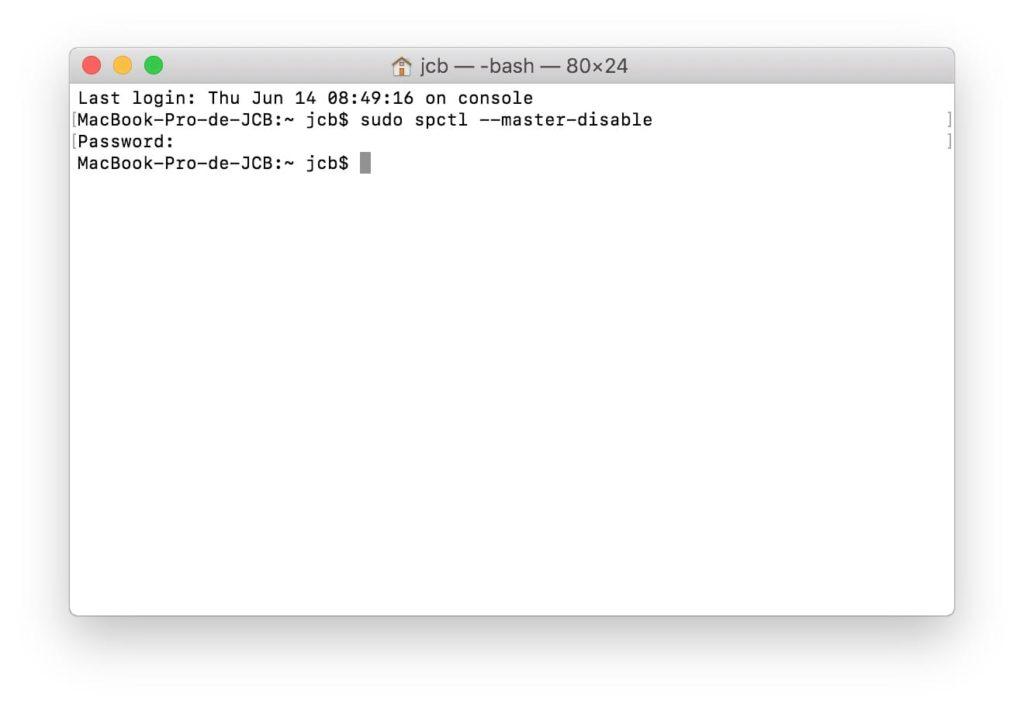 Abrir aplicaciones no identificadas en macOS Mojave (10.14) 4