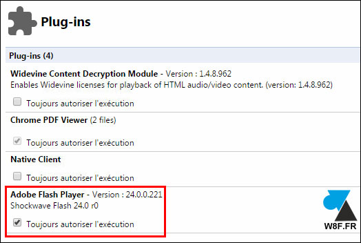 Reactivar Adobe Flash Player en Google Chrome 3