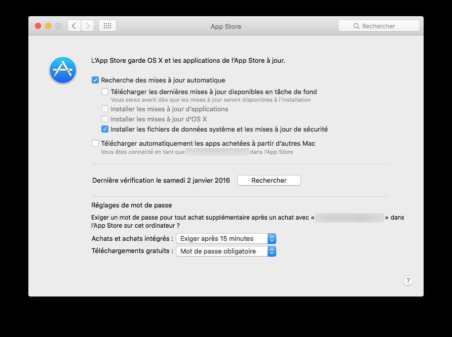 Mac App Store: configuración bajo OS X El Capitan (10.11) 5