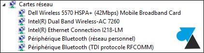 Encontrar la referencia de la tarjeta de red / wifi 4