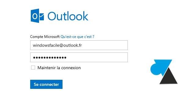 Cambiar la contraseña de una cuenta de correo electrónico de Outlook / Hotmail 1
