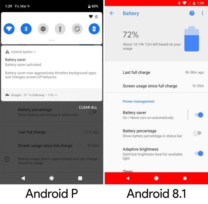 La pequeña noticia en el primer avance de Android Pie 11