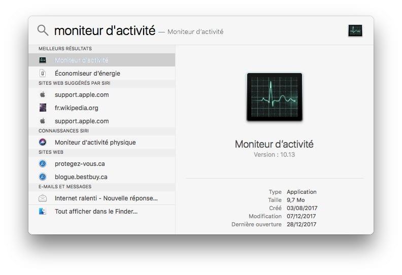 Monitor de actividad Mac: rendimiento, aplicación bloqueada.... 1