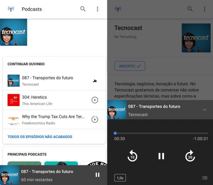 Google tiene un reproductor de podcasts oculto en Android 2