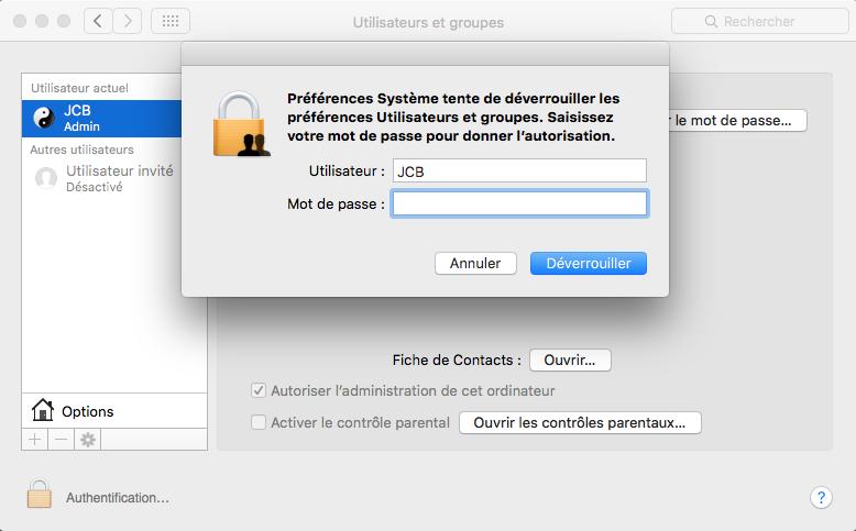 Cambiar el nombre de la cuenta del MacBook 3