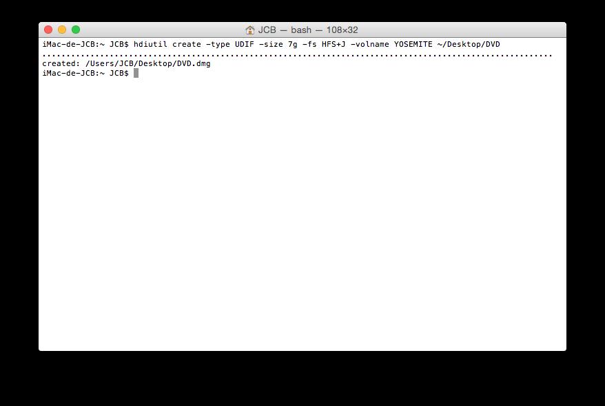 Crear un DVD de arranque de Yosemite (Mac OS X 10.10) 3