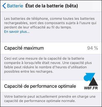 Ver el estado de salud de la batería de un iPhone