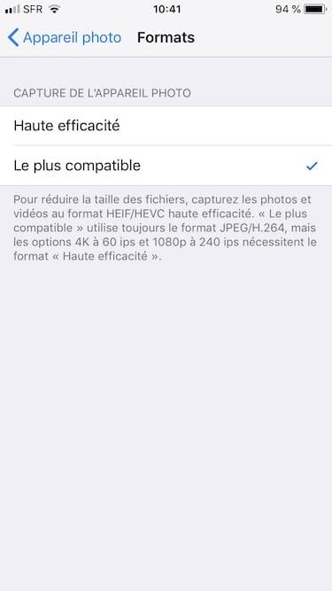 Toma fotos en JPEG en iPhone en lugar de en HEIF 2
