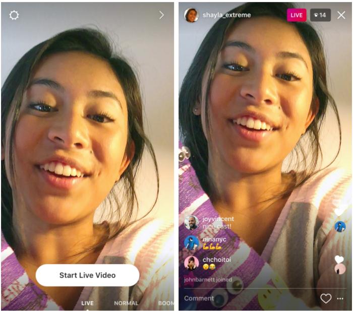 Instagram ahora ofrece videos en vivo y fotos autodestructivas