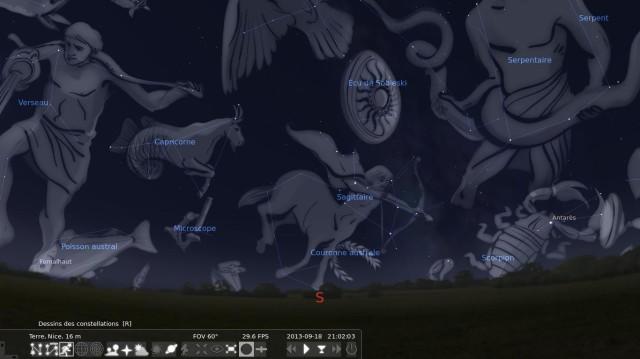 Cabeza en las estrellas con Stellarium 8