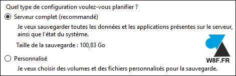Configuración del software de copia de seguridad de Windows Server 3