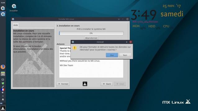 Instalé MX Linux 17 Beta 2 5
