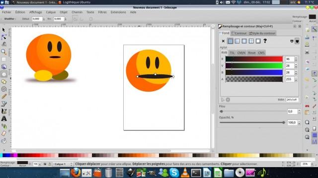 Inkscape, dibuja un carácter simple. 7