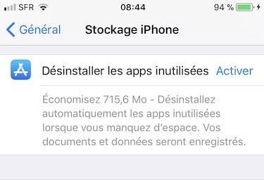 Gestiona el espacio de almacenamiento del iPhone / iPad / iPod (iOS 11) 5