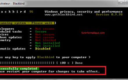 Más privacidad en Windows con Blackbird
