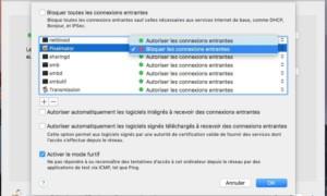 Bloquear las conexiones entrantes en Mac OS y OS X
