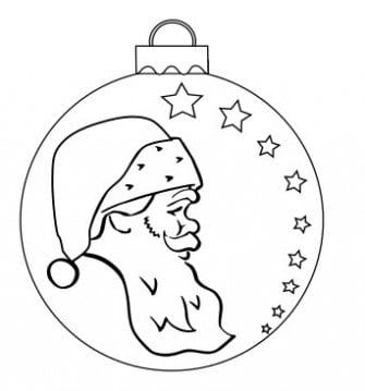 Dibujar adornos navideños con diferentes motivos